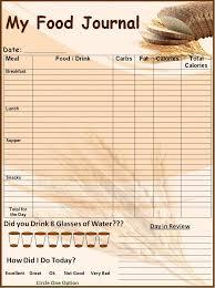 simple food log template food log template printable in excel format