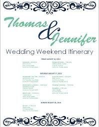Navy Wedding Weekend Itinerary Template Download Template