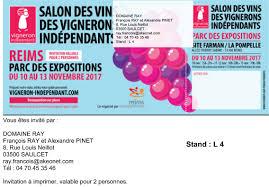 10 au 13 novembre 2017 salon des vignerons indépendants de reims