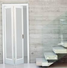 bifold closet doors with glass photos wall and door