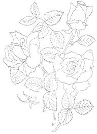 hand embroidery patterns free easy drawing designs kids coloring page simple flower to printable pattern trace free flower trace