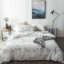 gray and white hydrangea and lily flower print asian inspired cherry blossom garden images full queen size bedding sets