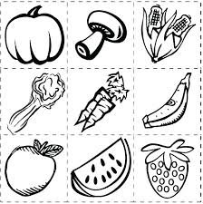 Healthy Foods Coloring Sheets Food Pages Vegetables And Fruit Page