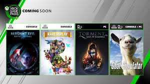 ing soon to xbox game p resident evil revelations goat simulator and more