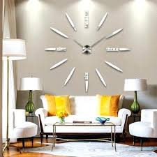 Best Interior Big Wall Ideas Interior Designing Home Ideas Oversized Wall  Clocks You Can Look Stainless Steel Wall Clock You For Large Clocks For  Living ...