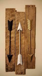 rustic wood and metal wall art beautiful bedroom decor arrow wall decor 3 metal arrows on