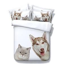 dog bedding set lovely dog and cat print bedding sets king size kids single bed blanket dog bedding