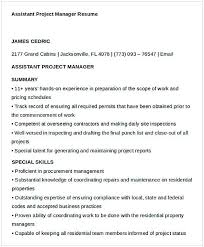 Assistant Project Manager Resume 1 Others Manager Resume