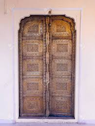 old golden doors of the jaipur city palace rajasthan india stock photo