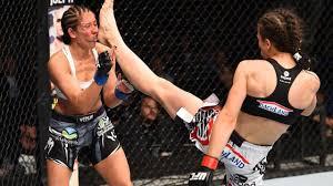 Woman foot kick knockout