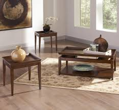 steve silver clemson 3 piece lift top coffee table set in c