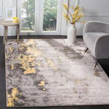 adirondack gray yellow 8 ft x 10 ft area rug