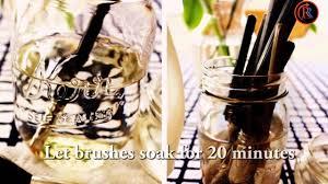 wash make up brushes home remes
