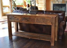 rustic wooden sofa design. Unique Rustic Reclaimed Teton 3drawer Sofa Table Intended Rustic Wooden Design D