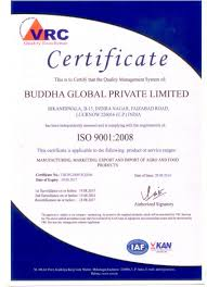 Iso Certificate Buddha Global Limited