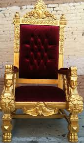 gold blood red king ralphs chair queen throne by venetiansociety 1289 00