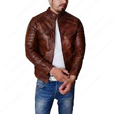 men s cafe racer vintage leather motorcycle jacket