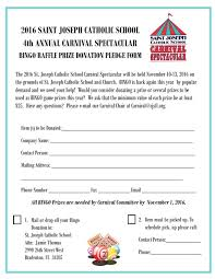 Prize Donation Form - St. Joseph's Carnival Spectacular - Bradenton, Fl