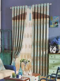 ... Angel Jacquard European Style Floral Pencil Pleat Chenille Curtain  (Color: Medium Sky Blue) Angel Jacquard European Style Floral Pencil Pleat  Chenille ...