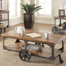 Industrial Coffee Table Cart Functional Industrial Coffee Table Tables Chairs Industrial