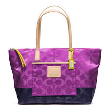 Lyst - Coach Legacy Weekend Signature Colorblock Nylon Eastwest Tote ...