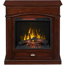 style selections 36 5 in w 5 200 btu warm cherry wood veneer infrared quartz electric