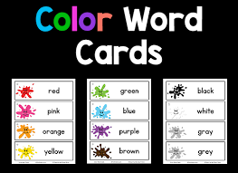 You can download and print them instantly from your computer. Color Word Cards Prekinders