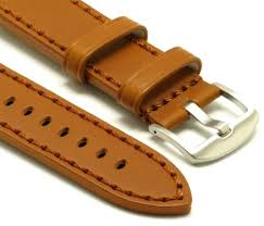 details about 26mm replacement brown leather watch band silver buckle invicta or big watch