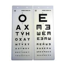 Distance Vision Sight Test Chart 3m