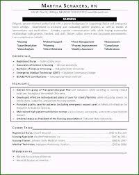 Emergency Room Nurse Resume Template Registered Nurse Resume Template Free Original Nursing Time