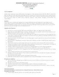 Sample Sap Resume Letter Resume Directory
