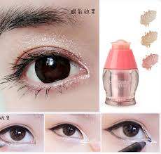 brand korean by nanda luxury eyeshadow makeup cosmetics eyes diamond glitter eye shadow shimmer white powder in eye shadow from beauty health on