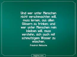 Friedrich Nietzsche Zitat Und Wer Unter Menschen Nicht