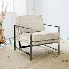 Modern Outdoor Furniture Los Angeles Stunning Metal Frame Upholstered Chair West Elm