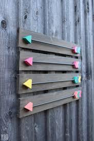 diy wood arrows wall art arrow wall decor clever