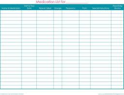Medication Lists Templates Free Printable Medication List Template Free Download