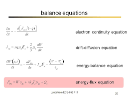 nanohub org resources ece 656 lecture 32 balance equation approach iii watch presentation