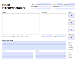 Film Template For Photos Movie Storyboard Template 8 Free Word Excel Pdf Ppt Format