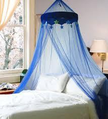 A imagem est carregando DREAMMA-Blue-Round-Dome-Bed-Canopy -Bedcover-Mosquito-