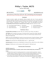 Importance Of A Resume Sample Resume For C Net Developer