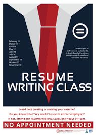 Resume Writing Class Ulstl