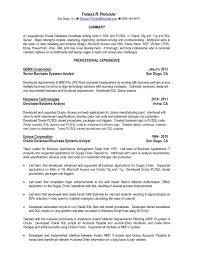 Sql Developer Resume Oracle Pl Sql Developer Resume Sample Free Resume Templates 1
