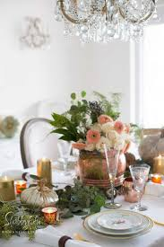 Metallics In Fall Table Settings Copper And Gold Shabbyfufu Custom Dining Room Table Settings Decoration