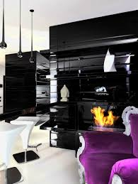 Purple Living Room Decor Black White And Purple Living Room Ideas Home Decorating Ideas