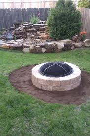 Love The Water Feature Perfect For Safety Around Toddlers Outdoor Fire Pit Fire Pit Landscaping Fire Pit Backyard
