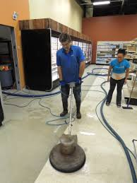 here s likenu carpet cleaning at better health food in shelby township stripping a vinyl floor with a rotating pad stripping removes every bit of