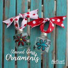 faux stained glass ornaments