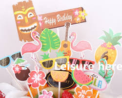 Dessert Table Decoration Hawaii Cake Topper Summer Birthday Party