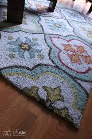 aqua kitchen rug