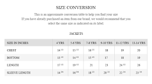 Oxford Jacket Size Chart Size Guide Brumano Pakistan